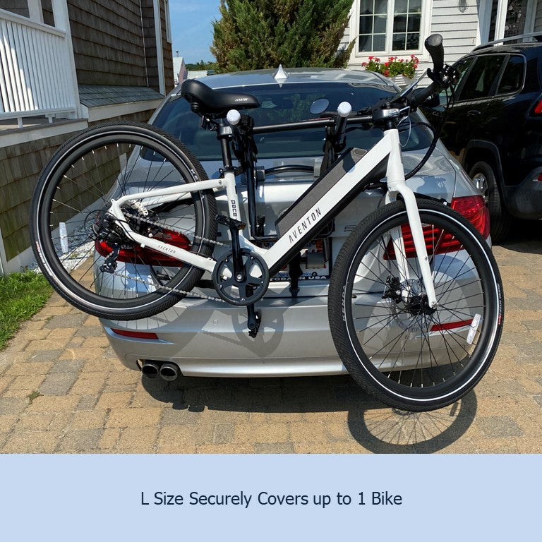 Single Trunk Mount Bike Rack Cover For Transport (Fits 1 Bike) Extra Large Translucent Ends