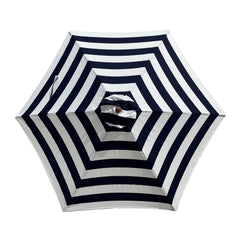 9ft Market Patio Umbrella 6 Rib Replacement Canopy Blue Cabana Stripe