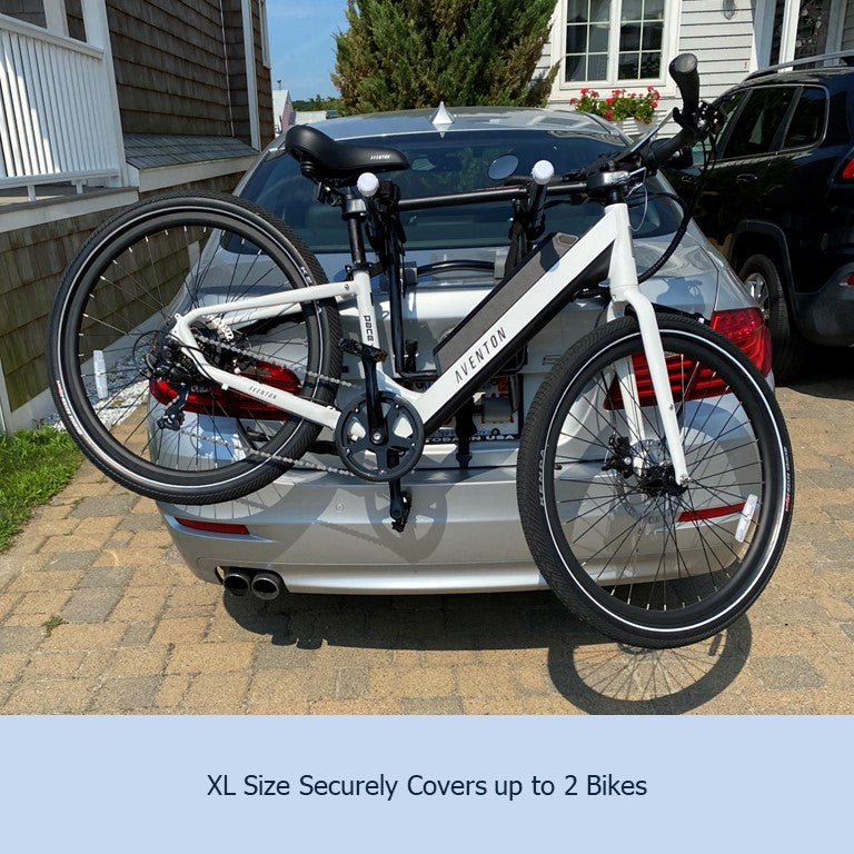 Dual Trunk Mount Bike Rack Cover For Transport (Fits up to 2 Bikes) Extra Large Translucent Ends