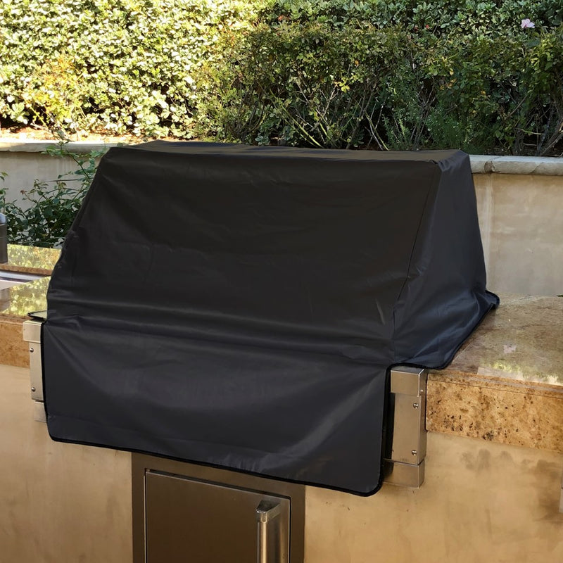 "Built-In BBQ Outdoor Gas Grill Cover 56""L x 30""D x 16""H Vinyl Black"