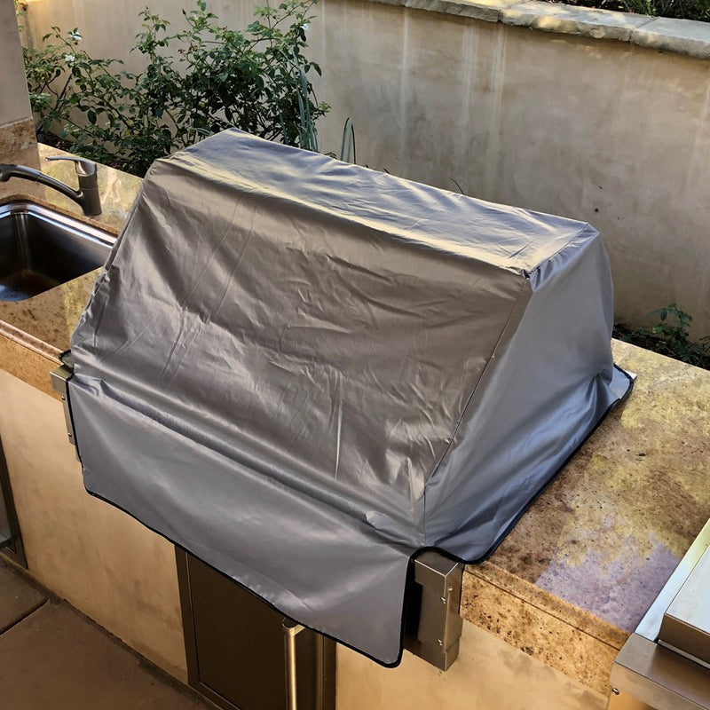 "Built-In BBQ Outdoor Gas Grill Cover 45""L x 30""D x 16""H Vinyl Grey"