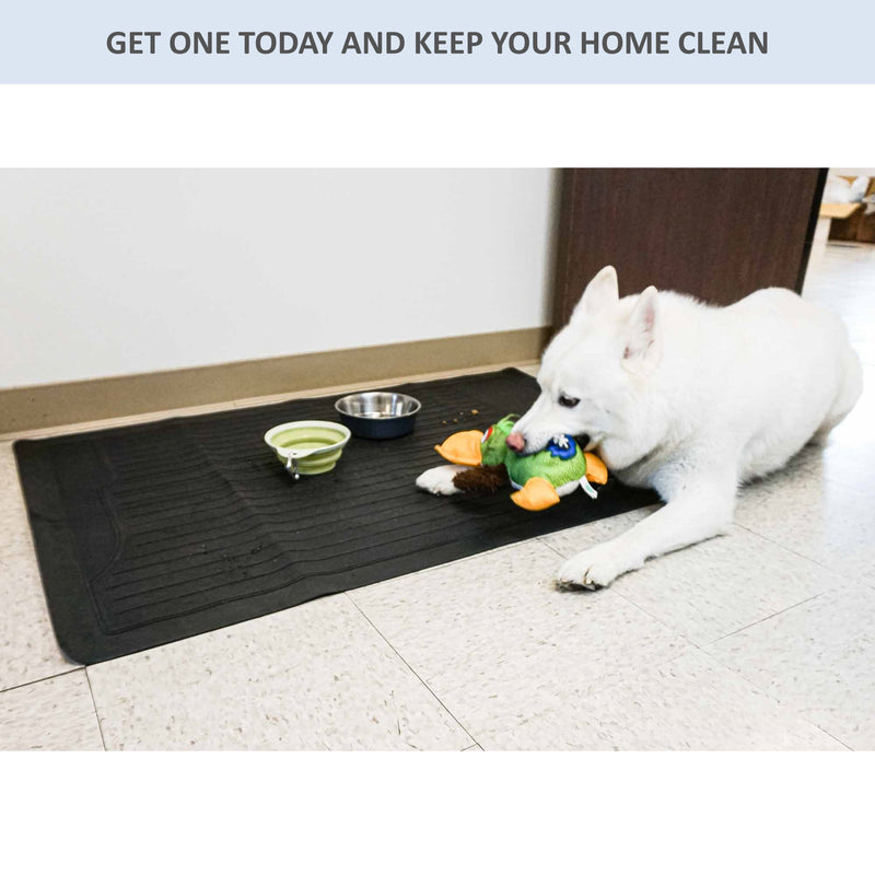 "Pet Feeding Area Mat, Extra Large, Durable, Vinyl, Waterproof 32.25""L x 47.5""W - Formosa Covers"