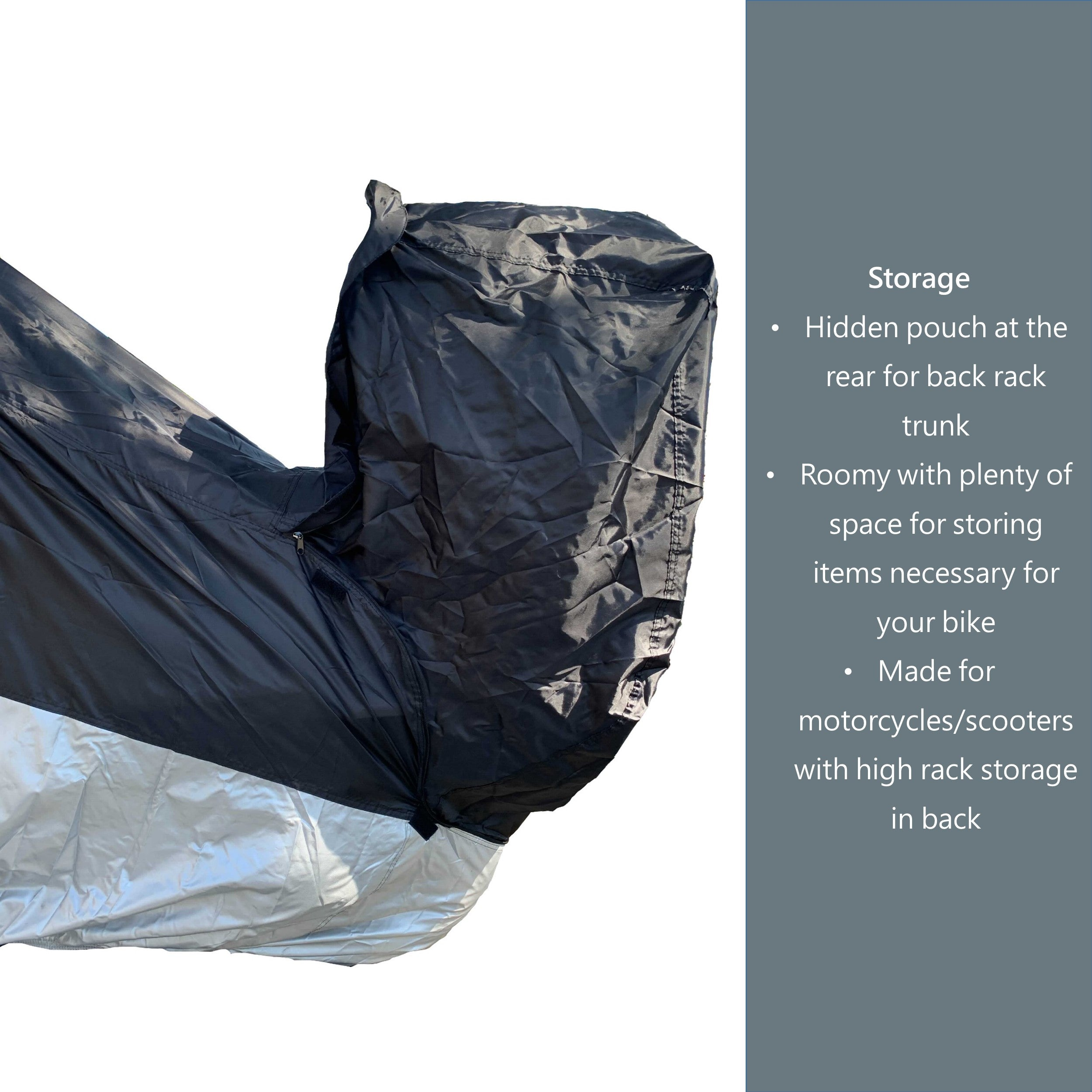 Deluxe All Season Motorcycle Cover size L made for Travel Luggage ...