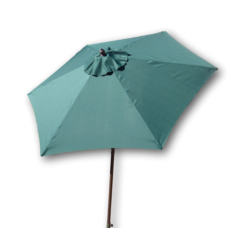 7.5ft Aluminum Patio Garden Market Umbrella with Crank and Tilt Mechanism Hunter Green - Formosa Covers