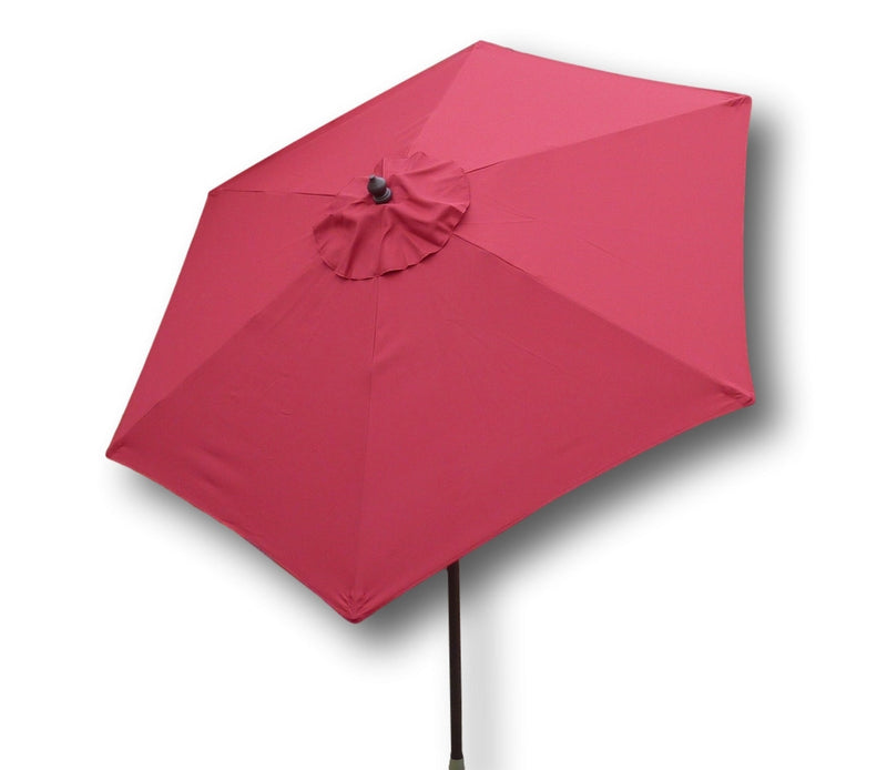 7.5ft Aluminum Patio Garden Market Umbrella with Crank and Tilt Mechanism Red - Formosa Covers