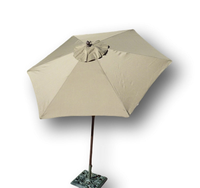 7.5ft Aluminum Patio Garden Market Umbrella with Crank and Tilt Mechanism Taupe - Formosa Covers