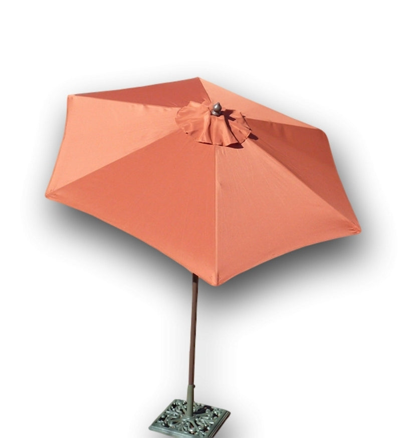 7.5ft Aluminum Patio Garden Market Umbrella with Crank and Tilt Mechanism Terracotta - Formosa Covers