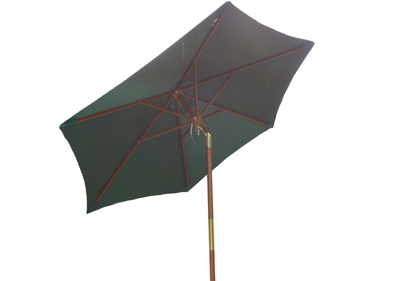 7ft Wooden Patio Garden Market Umbrella with Tilt Mechanism Hunter Green - Formosa Covers