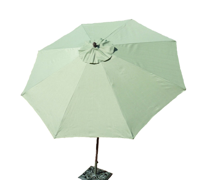 9ft Aluminum Patio Garden Market Umbrella with Crank and Tilt Mechanism Sage Green - Formosa Covers