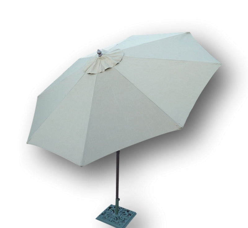 9ft Aluminum Patio Garden Market Umbrella with Crank and Tilt Mechanism Taupe - Formosa Covers