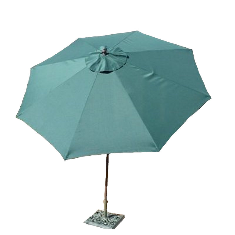 9ft Aluminum Patio Garden Market Umbrella with Crank and Tilt Mechanism Hunter Green - Formosa Covers