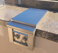 Outdoor Built-In Side Burner Cover in Taupe 19.5