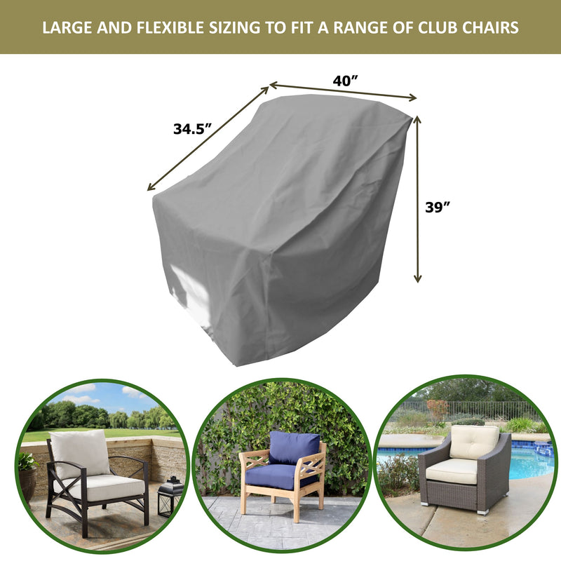 "Patio Outdoor Large Club Chair Cover 40""W x 34""D x 39""H Aspen Green"