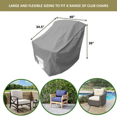 Patio Outdoor Large Club Chair Cover 40