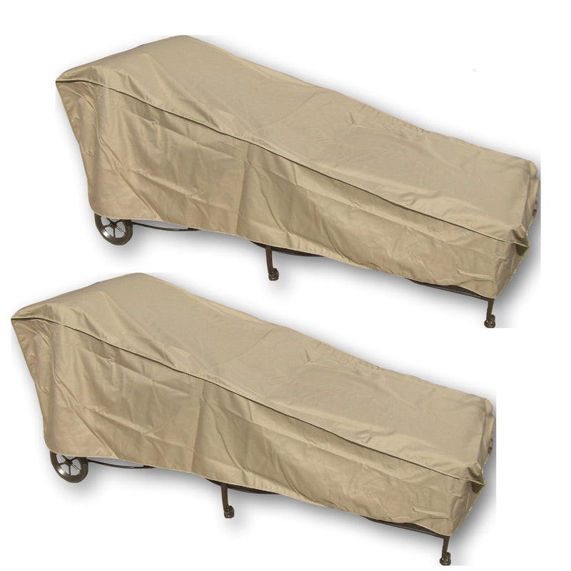"Patio Chaise Lounge Cover 84""L x 30""W x 29""H Classic Taupe (2 Pack) - Formosa Covers"