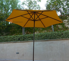 9ft Market Patio Umbrella 6 Rib Replacement Canopy Yellow Olefin - Formosa Covers