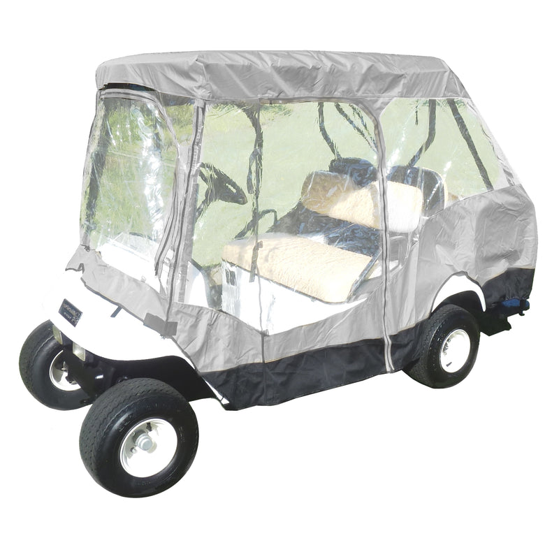 "4 Passenger Golf Cart Driving Enclosure Cover (2 Passenger Short Roof 58"") Grey"