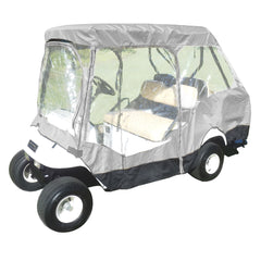 4 Passenger Golf Cart Driving Enclosure Cover (2 Passenger Short Roof 58