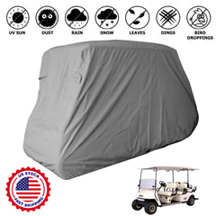 4 Passenger Golf Cart Storage Cover (2 Passenger Short Roof 58