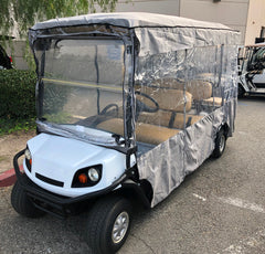 Premium Tight Weave 6 Passengers Driving Enclosure Golf Cart Cover fits EZGO 4 + 2 Bench - 119
