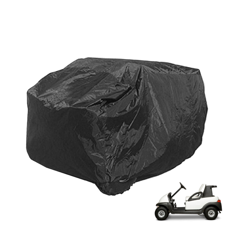 2 Passenger Golf Cart Storage Cover for Golf Carts without Roof Black
