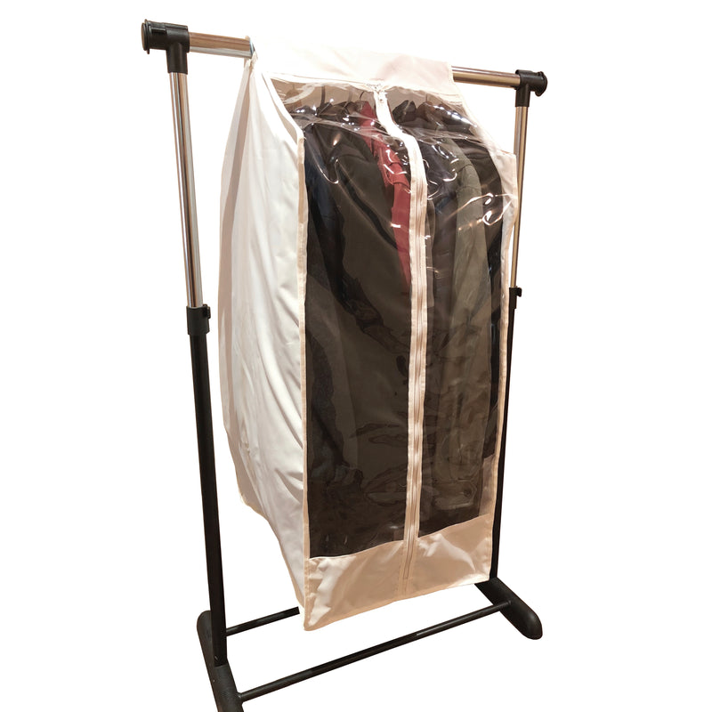 "Full Garment Rack Cover Closet Rod Cover 16""W x 22""D x 42""H Off White - Formosa Covers"