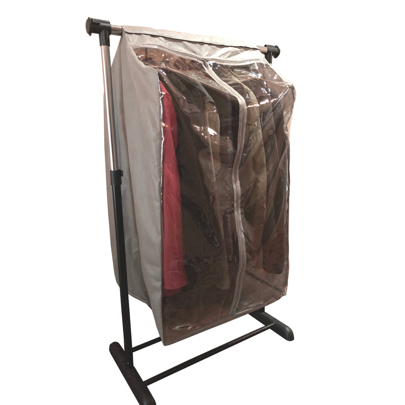 "Full Garment Rack Cover Closet Rod Cover 24""W x 22""D x 42""H Beige - Formosa Covers"