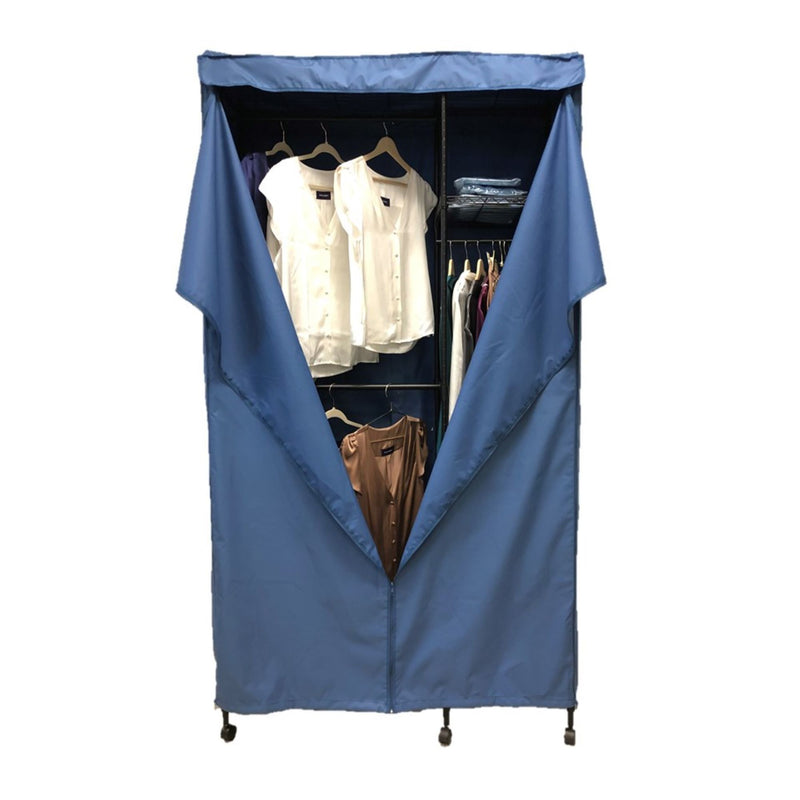 "Portable Garment Rack Cover 36""W x 18""D x 68""H Dusty Blue"