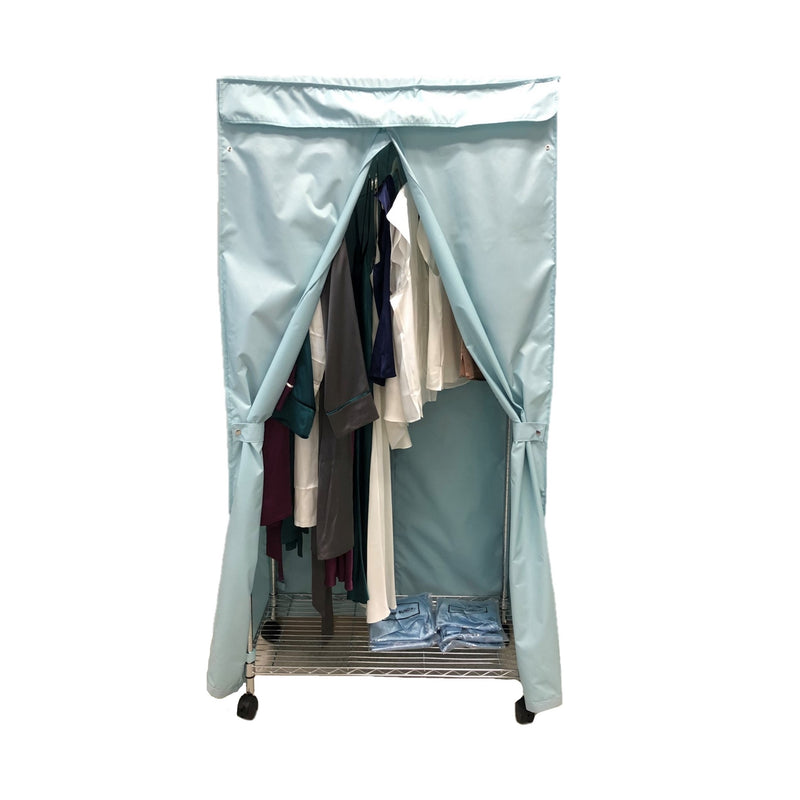 "Portable Garment Rack Cover 36""W x 18""D x 68""H Glacier Blue"