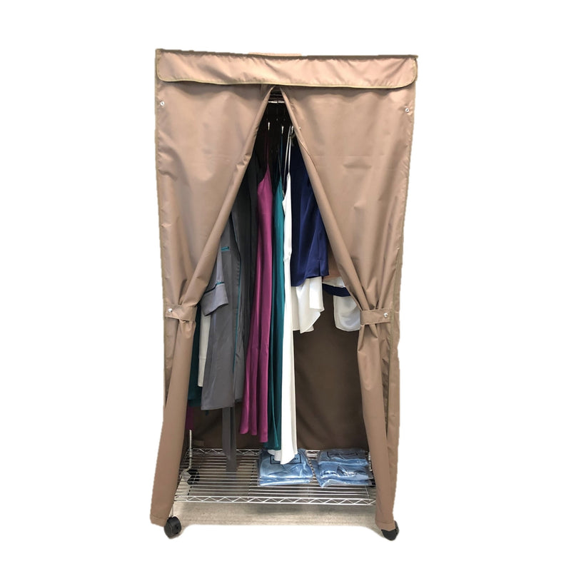 "Portable Garment Rack Cover 36""W x 18""D x 68""H Khaki"