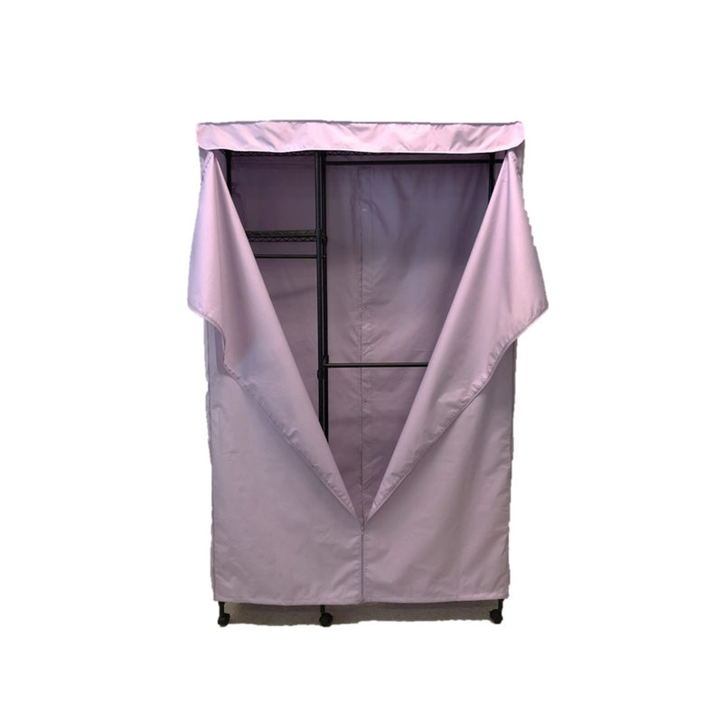 "Portable Garment Rack Cover 48""Wx18""Dx75""H Lilac Purple"
