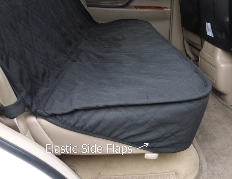 Car Seat Luxury Bench Cover For Dogs and Pets Black - Formosa Covers