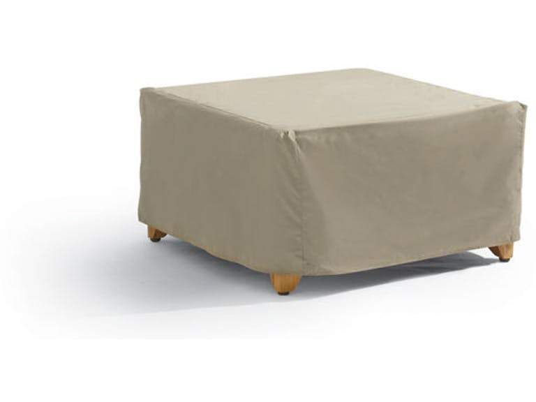 "Patio Outdoor Cover For Large Ottoman or Side Table 36""L x 30""D x 18""H Classic Taupe"