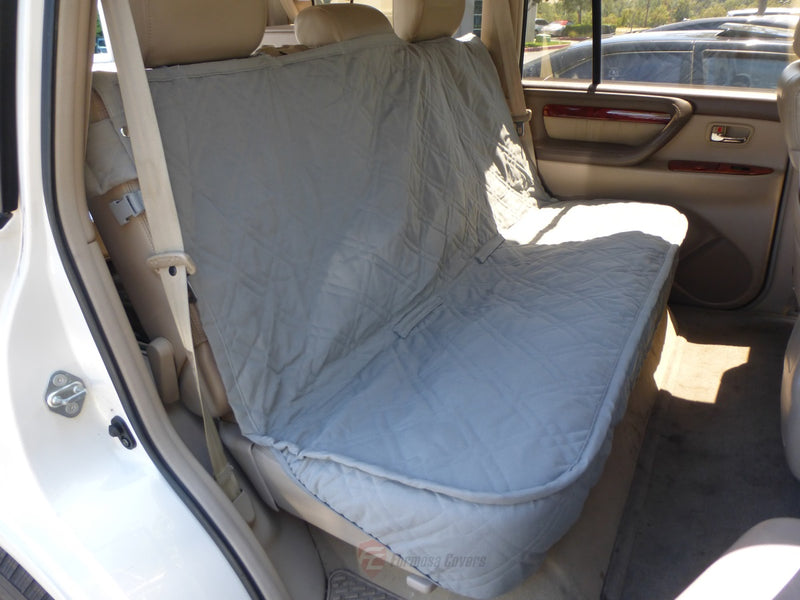 Car Seat Luxury Bench Cover For Dogs and Pets Grey - Formosa Covers