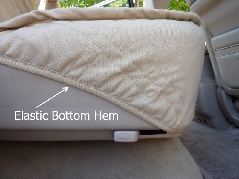 Car Seat Luxury Bench Cover For Dogs and Pets Taupe - Formosa Covers