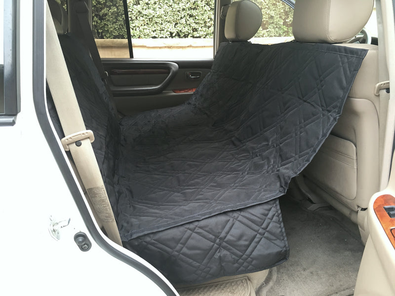 Car Seat Hammock Cover with Non-Slip Fabric for Dogs and Pets Black - Formosa Covers