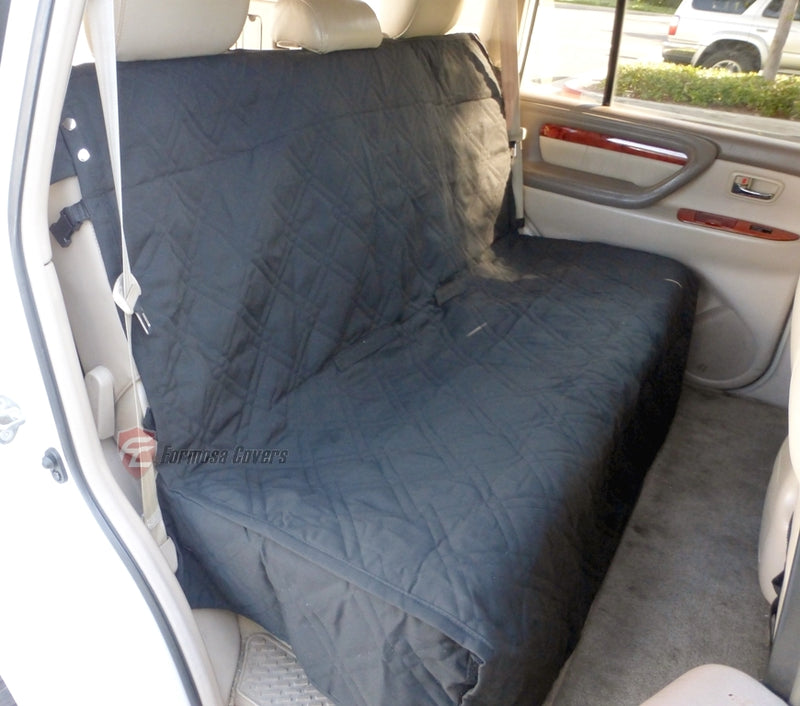 Car Seat Bench Cover For Dogs and Pets Black - Formosa Covers