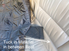 Car Seat Hammock Cover with Non-Slip Fabric for Dogs and Pets Grey - Formosa Covers