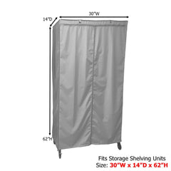 Storage Shelving Unit Cover, fits racks 30