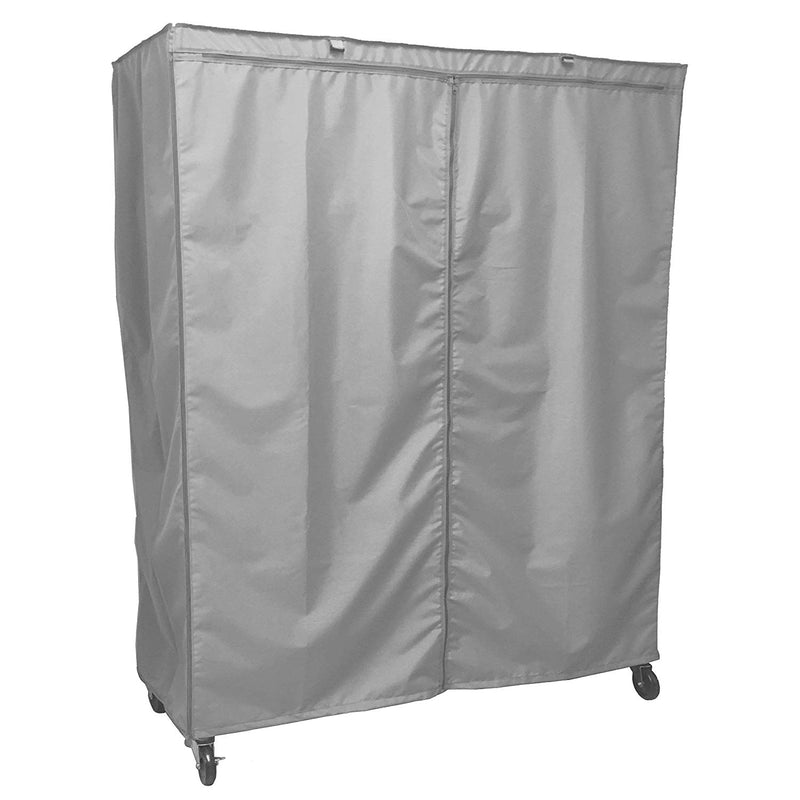 "Storage Shelving Unit Cover, fits racks 60"" W x 18""D x 72""H in Grey - Formosa Covers"