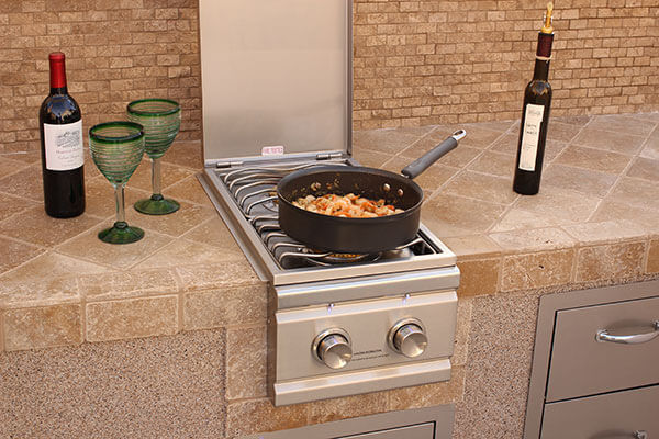 "Outdoor Built-In Side Burner Cover in Taupe 19.5""W x 33.5""D - Formosa Covers"
