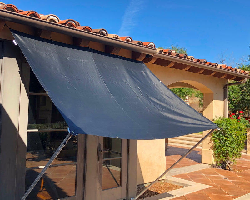 Shade Sail Sun Screen Panel for Canopy, Gazebo, Pergola, Balconies, Porches, Patio Awning, Patio (10 ft x 12 ft, Screen Panel ONLY) - Formosa Covers
