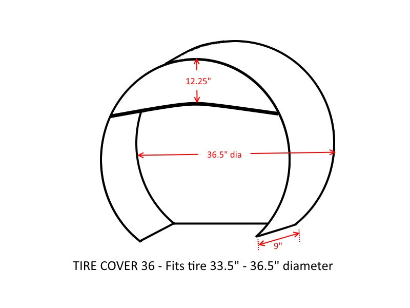 "Deluxe tire/wheel covers fits tire 33.5""- 36.5"" Dia. for RV's, Travel Trailers, Toy Haulers, 5th wheel trailers, Truck, Van, SUV (Set of 4) - Formosa Covers"