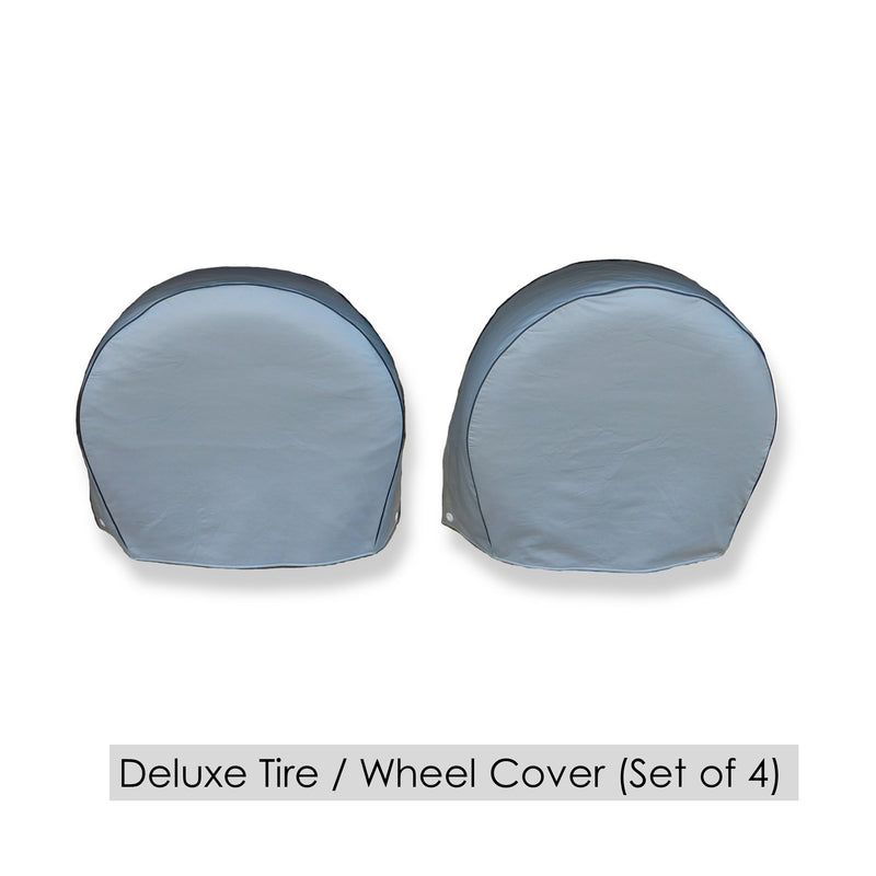 "Deluxe tire/wheel covers fits tire 27.5""- 30.5"" Dia. for RV's, Travel Trailers, Toy Haulers, 5th wheel trailers, Truck, Van, SUV (Set of 4)"