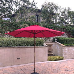 10ft Market Patio Umbrella 8 Rib Replacement Canopy Red