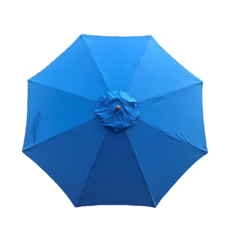 11ft Market Patio Umbrella 8 Rib Replacement Canopy Capri Blue Olefin