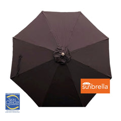 11ft Market Patio Umbrella 8 Rib Replacement Canopy Sunbrella Canvas Bay Brown