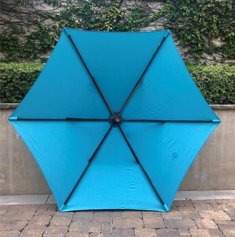 9ft Market Patio Umbrella 6 Rib Replacement Canopy Aqua Olefin