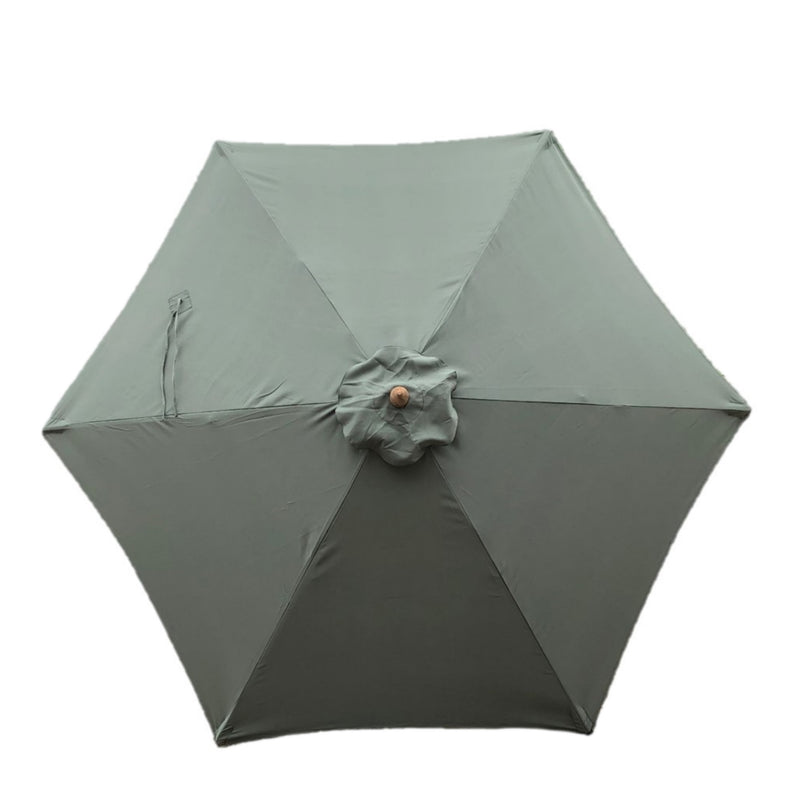 9ft Market Patio Umbrella 6 Rib Replacement Canopy Sage Green