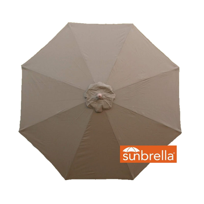 11ft Market Patio Umbrella 8 Rib Replacement Canopy Sunbrella Fabric Cocoa